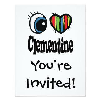I clementina del corazón (amor) invitación 10,8 x 13,9 cm