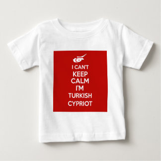 I Cnt guarda al chipriota turco de la calma Im Camiseta De Bebé