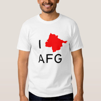 I CORAZÓN Afganistán Camisetas