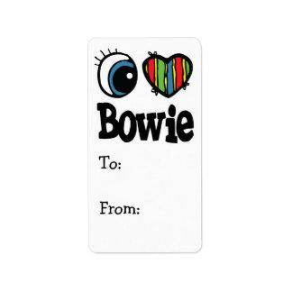 I corazón (amor) Bowie Etiquetas De Dirección