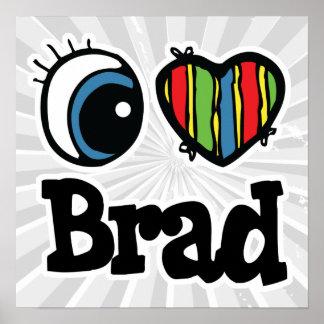 I corazón (amor) Brad Póster