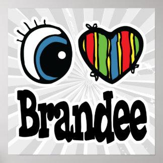 I corazón (amor) Brandee Póster