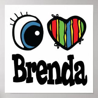 I corazón (amor) Brenda Póster