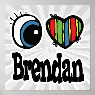 I corazón (amor) Brendan Póster