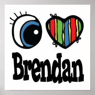 I corazón (amor) Brendan Impresiones