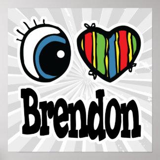 I corazón (amor) Brendon Póster