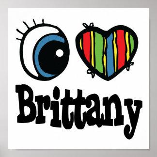 I corazón (amor) Bretaña Póster
