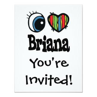 I corazón (amor) Briana Invitación 10,8 X 13,9 Cm
