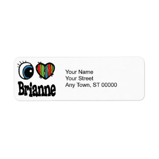 I corazón (amor) Brianne Etiquetas De Remite