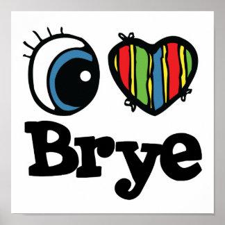 I corazón (amor) Brye Póster