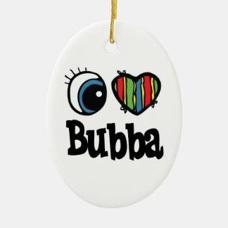 I corazón (amor) Bubba Adorno Navideño Ovalado De Cerámica