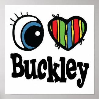 I corazón (amor) Buckley Póster
