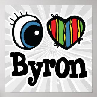I corazón (amor) Byron Póster