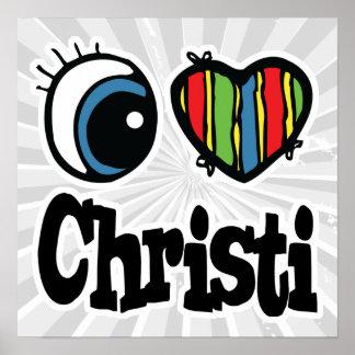 I corazón (amor) Christi Póster