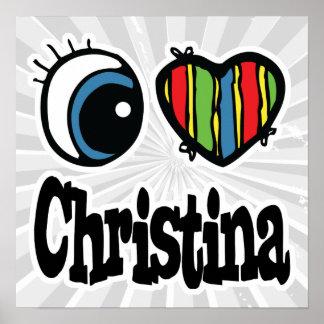 I corazón (amor) Christina Póster
