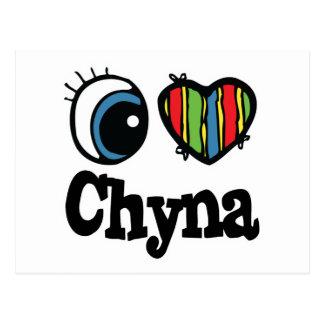 I corazón (amor) Chyna Postal