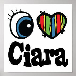 I corazón (amor) Ciara Póster