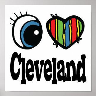 I corazón (amor) Cleveland Póster