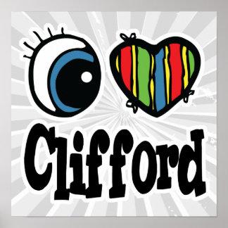 I corazón (amor) Clifford Póster