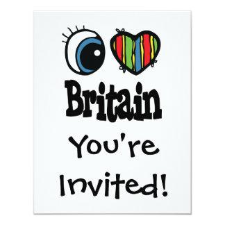 I corazón (amor) Gran Bretaña Invitación 10,8 X 13,9 Cm