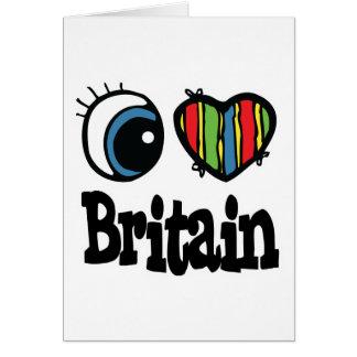 I corazón (amor) Gran Bretaña Tarjeta De Felicitación