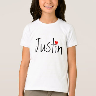 ¿I corazón (amor) Justin o? Camiseta