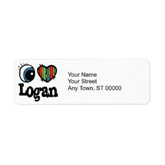 I corazón (amor) Logan Etiquetas De Remite