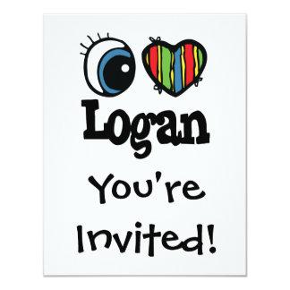 I corazón (amor) Logan Invitación 10,8 X 13,9 Cm