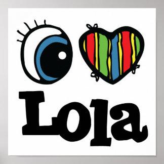 I corazón (amor) Lola Póster