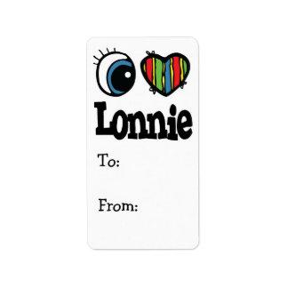 I corazón (amor) Lonnie Etiquetas De Dirección