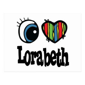 I corazón (amor) Lorabeth Postal