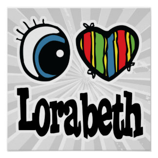 I corazón (amor) Lorabeth Póster