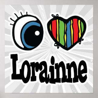 I corazón (amor) Lorianne Póster