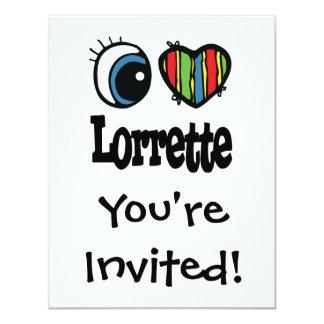I corazón (amor) Lorrette Invitación 10,8 X 13,9 Cm