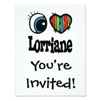 I corazón (amor) Lorriane Invitación 10,8 X 13,9 Cm