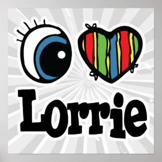 I corazón (amor) Lorrie Póster