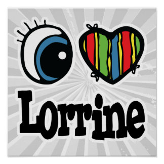 I corazón (amor) Lorrine Posters