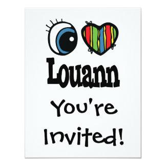 I corazón (amor) Louann Invitación 10,8 X 13,9 Cm
