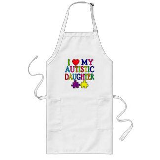 I corazón (amor) mi hija autística delantales