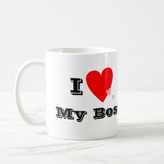 I corazón (amor) mi taza de Boss