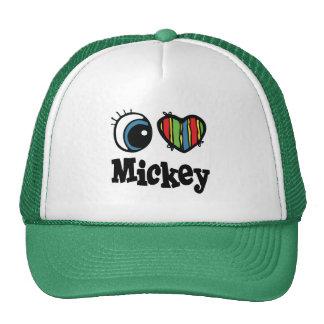 I corazón (amor) Mickey Gorras