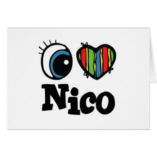 I corazón (amor) Nico Tarjeta De Felicitación