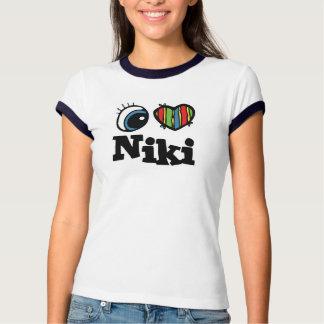 I corazón (amor) Niki Camiseta