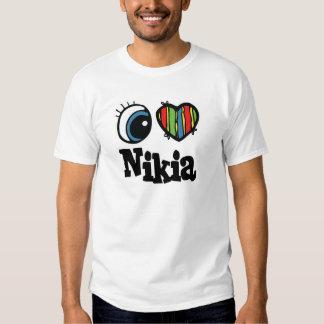 I corazón (amor) Nikia Camiseta