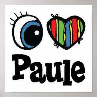 I corazón (amor) Paule Póster