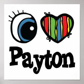 I corazón (amor) Payton Póster