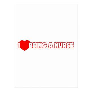 I corazón (amor) que es una enfermera postal