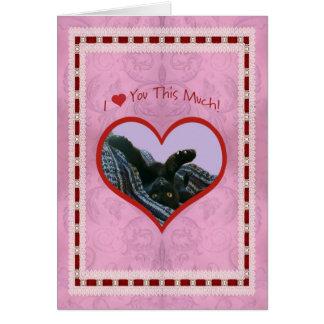 I corazón (amor) usted esta mucha tarjeta del día