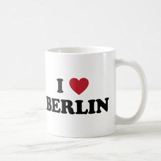 I corazón Berlín Alemania Taza Básica Blanca