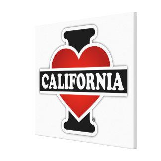 I corazón California Impresiones De Lienzo